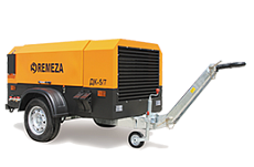Portable compressors with diesel engines